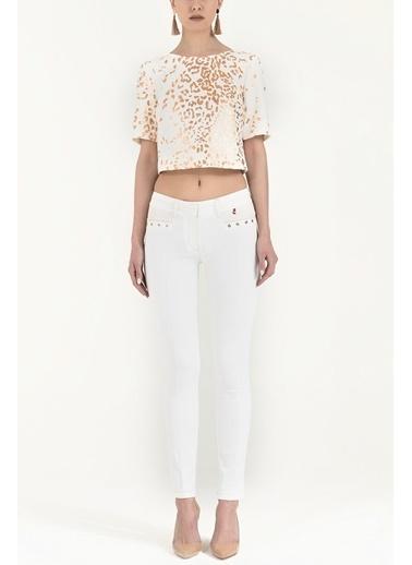 Societa Dar Kesim Pamuk Pantalon 40679 Beyaz